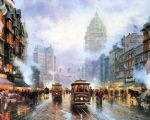 original thomas kinkade new york city 5 painting
