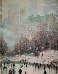 original thomas kinkade new york city 7 prints
