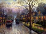 original thomas kinkade new york city hometown christmas prints