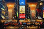 original times square new york city painting