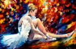 original young ballerina painting