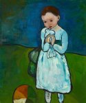 child holding a dove by pablo picasso paintings