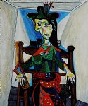 dora maar with cat by pablo picasso paintings