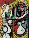 pablo picasso famous paintings - girl before a mirror ii by pablo picasso
