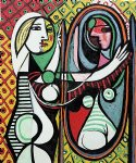 girl before a mirror by pablo picasso paintings