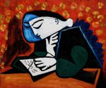pablo picasso girl reading painting
