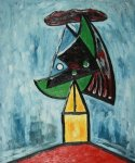pablo picasso harlequin project for a monument painting