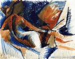 pablo picasso watercolor paintings - la grande odalisque after ingres by pablo picasso