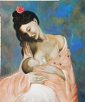 pablo picasso famous paintings - maternity by pablo picasso