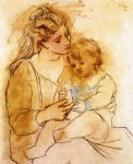 pablo picasso famous paintings - mother and child ii by pablo picasso