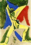 pablo picasso watercolor paintings - nude with drapery study for la grande danseuse by pablo picasso