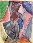 pablo picasso watercolor paintings - nude young boy by pablo picasso