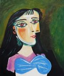 pablo picasso watercolor paintings - portrait of a women by pablo picasso