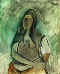 seated woman by pablo picasso paintings