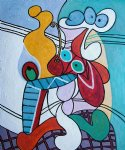 pablo picasso still life on pedestal table painting