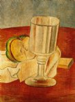 pablo picasso watercolor paintings - still life with gobleet by pablo picasso