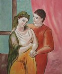 pablo picasso famous paintings - the lovers by pablo picasso