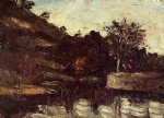 paul cezanne a bend in the river painting