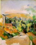 paul cezanne a bend in the road painting