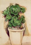 paul cezanne a pot of geraniums painting