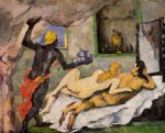 paul cezanne afternoon in naples with a black servant painting