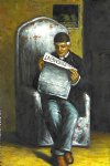 paul cezanne famous paintings - artist s father reading by paul cezanne