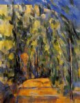forest original paintings - bend in the forest road by paul cezanne