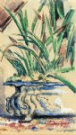 paul cezanne blue flowerpot painting