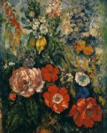 bouquet of flowers by paul cezanne painting