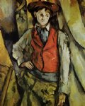 paul cezanne boy in a red vest ii painting