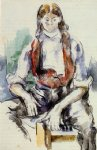 paul cezanne boy in a red vest iii painting