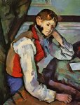 paul cezanne boy in a red vest painting