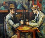 paul cezanne card players with pipes posters
