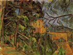 paul cezanne chateau noir ii painting