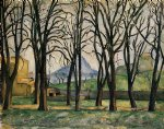 paul cezanne chestnut trees at the jas de bouffan painting