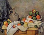 paul cezanne curtain jug and fruit painting 28143