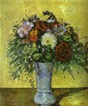 paul cezanne flowers in a blue vase painting 78928