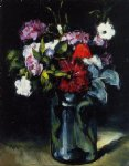 paul cezanne flowers in a vase ii painting