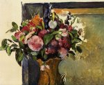 paul cezanne flowers in a vase paintings