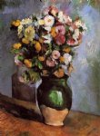 paul cezanne flowers in an olive jar painting
