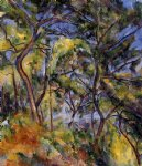 forest original paintings - forest by paul cezanne