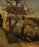 paul cezanne house and tree the hermitage pontoise painting 27730