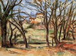 paul cezanne house behind trees on the road to tholonet painting 27732