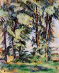 paul cezanne large trees at jas de bouffan painting 27776