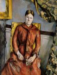 paul cezanne madame cezanne in a yellow chair ii art