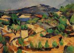 paul cezanne mountains seen from l estaque paintings