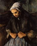 paul cezanne old woman with a rosary paintings