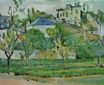 paul cezanne orchard in pontoise paintings