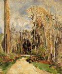 forest original paintings - path at the entrance to the forest by paul cezanne