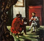 paul cezanne paul alexis reading at zola s house painting